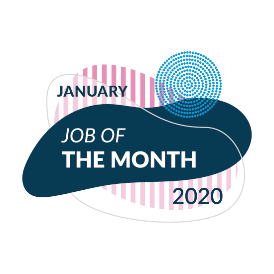 January Job of the Month Logo